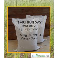 Sarı Buğday Tam Unu 5 Kg - Kargo Dahil